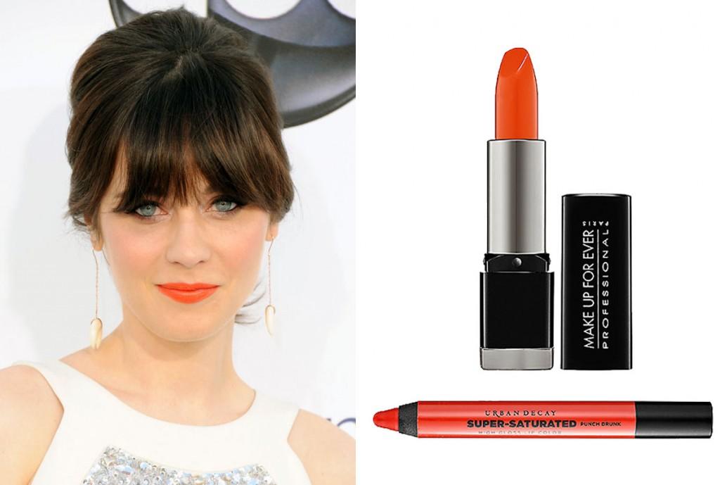 Zooey-Deschanel-orange-lipstick2-1024x689